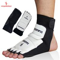New Imported Leather Highly Elastic White Foot Protector Instep Professional Taekwondo Karate Kangrui2086b Sport Safety Athletic