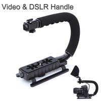 C Shape flash Bracket holder Video Handle Handheld Stabilizer Grip for DSLR SLR Camera Phone Gopro AEE Mini DV Camcorder