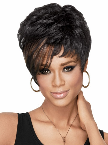 African American Short Wigs for Women Over 50