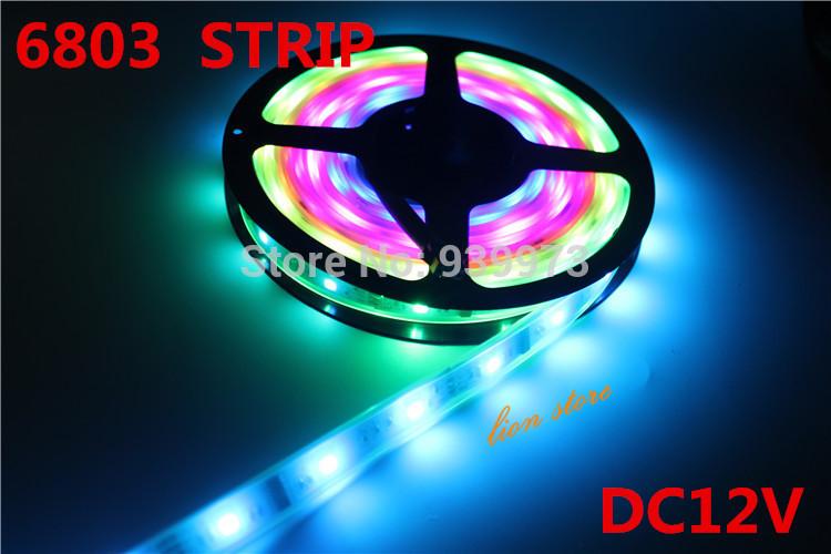 5m/lot 6803 IC 5050 digital RGB Strip,150LED IP67 tube waterproof dream magic color 12V Led Strip,30LED/m + free shipping(China (Mainland))