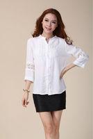 new 2014 spring brand plus size spring summer shirt hollow cotton shirt women dress casual dress  retail whole sale free ship