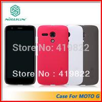Free shipping Genuine Nillkin Super Shield Shell Hard Case Cover Skin Back + Screen Protector For Motorola MOTO G