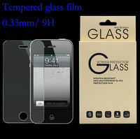 New Explosion proof Premium Real Tempered Glass Film Screen Protector for iPhone 4 4S Retail Package Free shipping