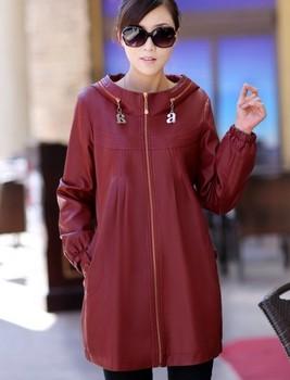 L-5xl Большой размер кожа пальто женщин пальто куртки с длинным nwe 2015 весна осень ...