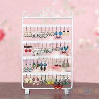 48 Holes Display Rack Metal Stand Holder Closet Jewelry Earrings Organizers Showcase Packaging & Display Wholesale 05DL