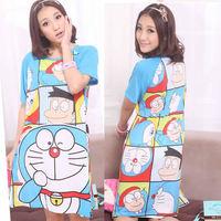 2014 New  Women's Clothing Cute Pajamas Summer  Dot Character Sleepwear  Girl's Nightgown  QQ261