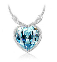 2014 Spring New Arrival Women Fashion Necklace Heart Shape Crystal Necklace High Quality Hot Sale Necklace Gift For Lover