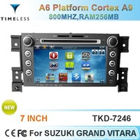 Timeless-long Car DVD For Suzuki Grand Vitara With GPS Stereo Bluetooth FM/AM Radio USB/SD Cortex A9 800MHZ,RAM256MB Support 3G