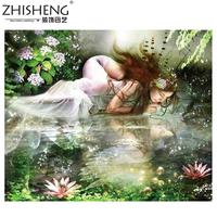 (Silk Thread Precision Printing Cross-Stitch)Only Beautiful ShuiYing Sharply Cross-Stitch Is A Beautiful Girl
