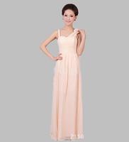 Long Evening Dress 2014 New Arrival Dress Party Evening Elegant Ball Gown V-Neck A-Line Chiffon Party Dress Formal Dress