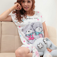 Lovers sleepwear female cartoon lounge set 1362