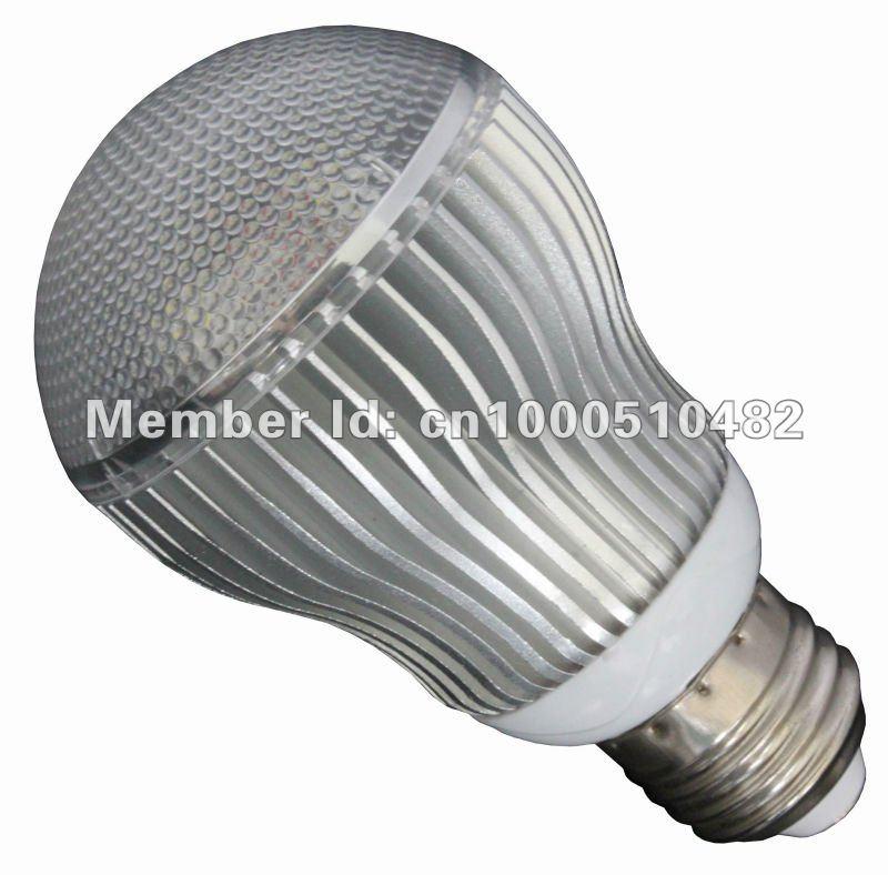 E27 5W 100-240V LED Lamp Light Bulb Bright white/warm white /colorful(China (Mainland))