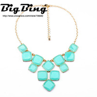 BigBing Fashion jewelry  fashion accessories candy box color fresh green pendant necklace  free shipping N1136