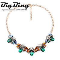 BigBing Fashion jewelry  fashion accessories green gem ladyfly pendant necklace  free shipping N1131