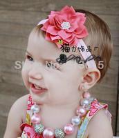 1PCS Retail Flower headband for Newborn Infant Toddler girls Baby Hair Accessory headband Kids Headpiece Free shipping DGM65