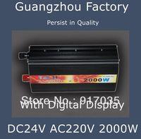 24V 220V 2000W Car Inverter Battery Inverter,Cigarette Lighter Car Battery Inverter, Car Accessories,With Digital Display