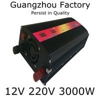 Inverter 12v 220v 3000w cigarette lighter Emergency Power Supply 12v Inverter 3000w Car Inverter 3000W Out Door Power Supply