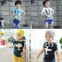 Free Shipping New 1pc Boy/girl Snnoppy/Aircraft printing summer cotton t-shirt for boys/girls t shirt HOT tops tees 5 sizes