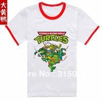 Free shipping! Teenage Mutant Ninja Turtles TMNT boy boys short sleeve white and grey t shirt shirts top tops tee  Children's