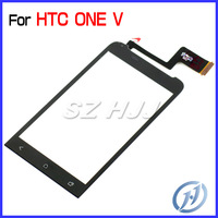 Original Touch Screen Digitizer Replacement Glass Panel With Cable For HTC One V Free Shipping