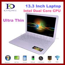 "13.3"" Super Thin laptop Notebook Computer Intel D2500 Dual Core 1.86Ghz Webcam,HDMI,WIFI,4500mah Windows 7 4GB&500GB(China (Mainland))"