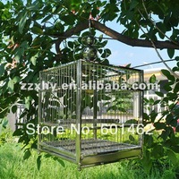 Small size of stainless steel metal square bird cage sized 36*36*42cm