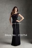Formal Long Mermaid Wedding Party Dresses Custom Made Celebrity Black Lace Floor Length Bridesmaid Dress Vestido De Festa Longo