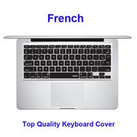 for Macbook Keyboard Skin, French Silicone Laptop Keyboard Protector For Macbook Pro Keyboard Cover Skin, black, pink