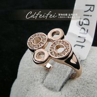rigant brand round finger ring gold 96268aa