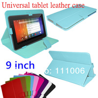 100pcs/lot, Universal 9 inch Android Tablet Flip PU Leather Case Cover PC Leather Smart Case