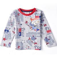 FREESHIPPING NOVA kids wear new spring-autumn boys tops printed cartoon cars baby boys' long sleeve T-shirts