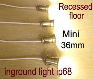 Recessed floor light led Mini, inground light led small,waterproof ip68 led lamp,1w 12v 24V,amber,orange,yellow,blue color(China (Mainland))