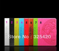 Famous luxury brand retro vintage wallet flip leather smart case cover for apple ipad mini 1 2 Retina / ipad 2 3 4,  MOQ 1pcs
