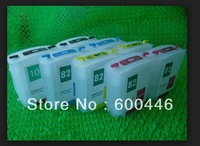 ink refillable cartridge compatible used for HP 10 HP 82   Designjet 500/500ps/800/800ps/815m,Empty