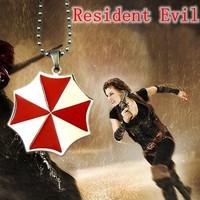 No Mini Order.M015. Fashion jewelry bijoux  jewelry,Umbrella Corporation Resident Evil Necklace Pendant Gift Red Zombie Chain