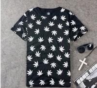 Drop Shipping Men Women Streetwear harajuku tie-dyeing Short-sleeve T-shirts skateboard O-Neck pilot weed Tees Hip hop Shirts