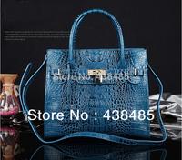Hot 2014 Croc Bag Lock Designer Famous Brand Handbag 100% Real Genuine Leather Women Handbag Ladies Tote Shoulder Bag