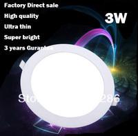 3W  High quality ultra-thin led anti-fog downlight led ceiling panel lights LED round panel light