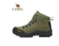 Camel outdoor male hiking shoes first layer of cowhide wear-resistant shock  slip-resistant 82185604 high hiking men shoes