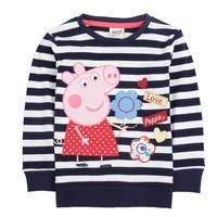 hot sales nova kids wear baby girl 100% cotton peppa pig baby girls' long sleeve t shirt   girls clothing 100%cotton print
