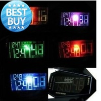 Aircraft LED Watches Digital hours Stainless steel Case Sports Watch Back Light rubber strap Casual watches New 2014