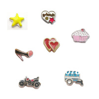 Free shipping  50 pieces Assorted Mixed (Or choose your favorite styles)  Diy jewelry floating charms