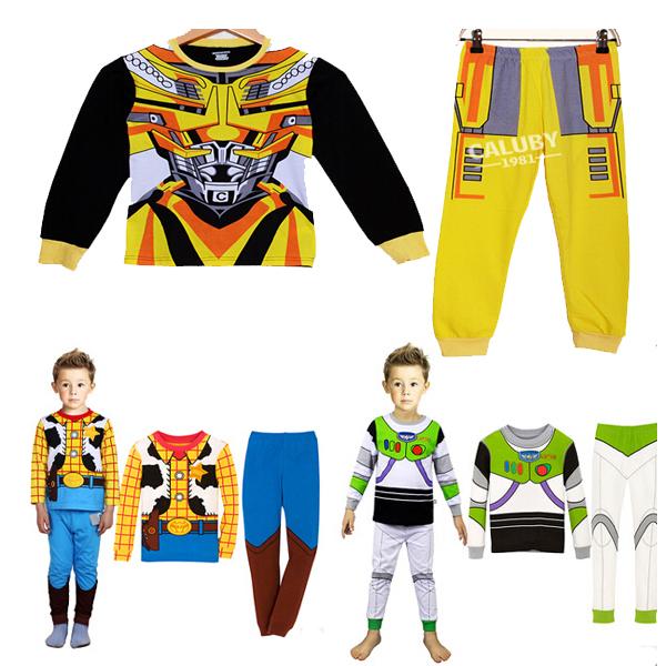 Hot Retail 2014 new Kids Minnie Pajamas sets baby Boy girls cartoon Suit sets blouses+ pants 2-piece sets 2-7T Free Shipping(China (Mainland))