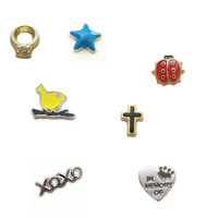 50 pieces Assorted Mixed Free shipping  hot sale floating charm XOXO charm