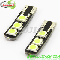 2014 NEWS !! Free shipping 50PC/lot  Car Auto LED T10 194 W5W 6 smd 5050 Canbus LED Light Bulb 6 led car T10 canbus car lamp