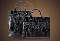 Fashion Lady Women's Leather Handbag Big Capacity Shining Stone Snakeskin Patent Leather Shoulder Bag Hobo Bag  free shipping