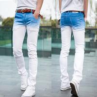 2014 Men's Long Jeans Gradient Ramp Color Fashion Pants Men's Slim Style Size 28-34 Hot Sale  MKN132