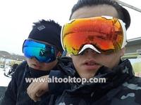 Free shipping Motocross ski goggles Winter anti-ultraviolet& fog skiing glasses Men snowmobile snow goggle Snowboard ski googles