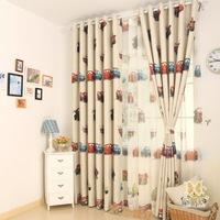 customized Boy child real dodechedron cloth curtain eco-friendly fabric cartoon car