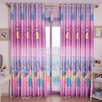 Modern brief curtain and sheer for kids children girls cartoon fairy tale